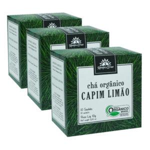 Kit 3cx – Capim Limão orgânico sachê (30 unid.)