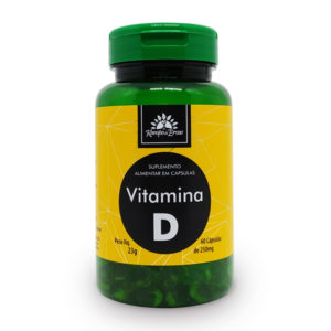 Vitamina D com 60 cápsulas de 250mg