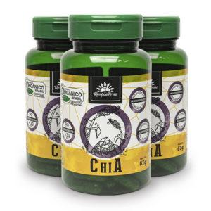 Kit Cápsulas de Chia orgânica (3 potes)